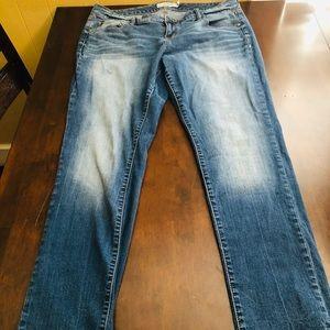 Torrid size 14 medium wash skinny jeans